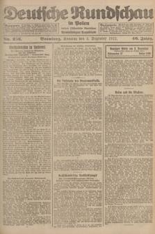 Deutsche Rundschau in Polen : früher Ostdeutsche Rundschau, Bromberger Tageblatt. Jg.46, Nr. 256 (3 Dezember 1922) + dod.