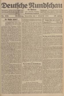 Deutsche Rundschau in Polen : früher Ostdeutsche Rundschau, Bromberger Tageblatt. Jg.46, Nr. 259 (7 Dezember 1922) + dod.