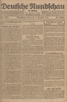 Deutsche Rundschau in Polen : früher Ostdeutsche Rundschau, Bromberger Tageblatt. Jg.46, Nr. 260 (8 Dezember 1922) + dod.