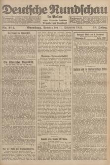 Deutsche Rundschau in Polen : früher Ostdeutsche Rundschau, Bromberger Tageblatt. Jg.46, Nr. 261 (10 Dezember 1922) + dod.