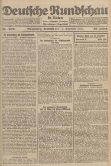 Deutsche Rundschau in Polen : früher Ostdeutsche Rundschau, Bromberger Tageblatt. Jg.46, Nr. 263 (13 Dezember 1922) + dod.