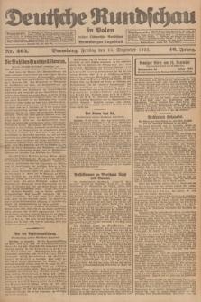 Deutsche Rundschau in Polen : früher Ostdeutsche Rundschau, Bromberger Tageblatt. Jg.46, Nr. 265 (15 Dezember 1922) + dod.
