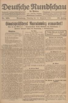 Deutsche Rundschau in Polen : früher Ostdeutsche Rundschau, Bromberger Tageblatt. Jg.46, Nr. 268 (19 Dezember 1922) + dod.