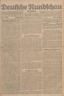 Deutsche Rundschau in Polen : früher Ostdeutsche Rundschau, Bromberger Tageblatt. Jg.46, Nr. 269 (20 Dezember 1922) + dod.