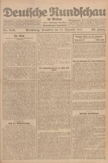 Deutsche Rundschau in Polen : früher Ostdeutsche Rundschau, Bromberger Tageblatt. Jg.46, Nr. 272 (23 Dezember 1922) + dod.