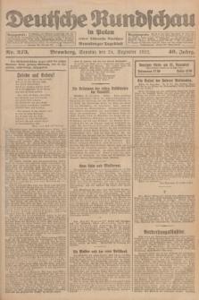 Deutsche Rundschau in Polen : früher Ostdeutsche Rundschau, Bromberger Tageblatt. Jg.46, Nr. 273 (24 Dezember 1922) + dod.