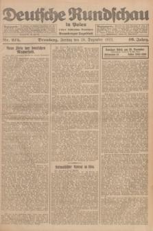 Deutsche Rundschau in Polen : früher Ostdeutsche Rundschau, Bromberger Tageblatt. Jg.46, Nr. 275 (29 Dezember 1922) + dod.