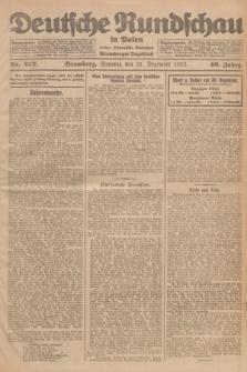 Deutsche Rundschau in Polen : früher Ostdeutsche Rundschau, Bromberger Tageblatt. Jg.46, Nr. 277 (31 Dezember 1922) + dod.