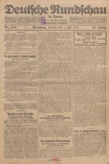 Deutsche Rundschau in Polen : früher Ostdeutsche Rundschau, Bromberger Tageblatt. Jg.47, Nr. 146 (1 Juli 1923) + dod.