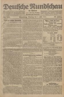 Deutsche Rundschau in Polen : früher Ostdeutsche Rundschau, Bromberger Tageblatt. Jg.47, Nr. 147 (3 Juli 1923) + dod.