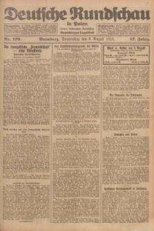 Deutsche Rundschau in Polen : früher Ostdeutsche Rundschau, Bromberger Tageblatt. Jg.47, Nr. 179 (9 August 1923) + dod.