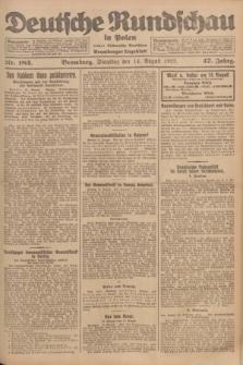 Deutsche Rundschau in Polen : früher Ostdeutsche Rundschau, Bromberger Tageblatt. Jg.47, Nr. 183 (14 August 1923) + dod.