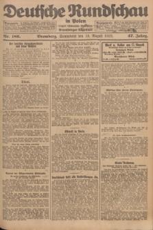 Deutsche Rundschau in Polen : früher Ostdeutsche Rundschau, Bromberger Tageblatt. Jg.47, Nr. 186 (18 August 1923) + dod.