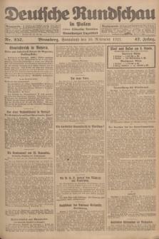 Deutsche Rundschau in Polen : früher Ostdeutsche Rundschau, Bromberger Tageblatt. Jg.47, Nr. 257 (10 November 1923) + dod.