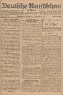 Deutsche Rundschau in Polen : früher Ostdeutsche Rundschau, Bromberger Tageblatt. Jg.47, Nr. 280 (7 Dezember 1923) + dod.