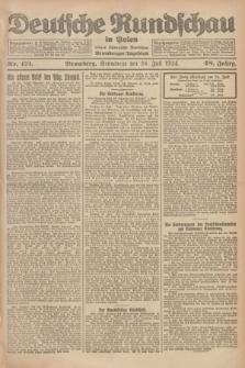 Deutsche Rundschau in Polen : früher Ostdeutsche Rundschau, Bromberger Tageblatt. Jg.48, Nr. 171 (26 Juli 1924) + dod.