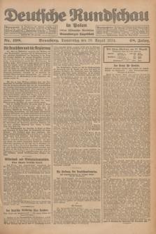 Deutsche Rundschau in Polen : früher Ostdeutsche Rundschau, Bromberger Tageblatt. Jg.48, Nr. 198 (28 August 1924) + dod.