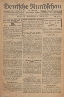Deutsche Rundschau in Polen : früher Ostdeutsche Rundschau, Bromberger Tageblatt. Jg.49, Nr. 1 (1 Januar 1925) + dod.
