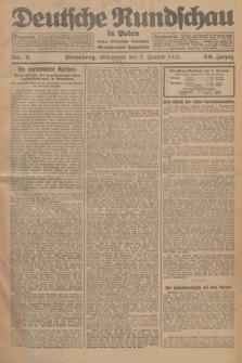 Deutsche Rundschau in Polen : früher Ostdeutsche Rundschau, Bromberger Tageblatt. Jg.49, Nr. 2 (3 Januar 1925) + dod.