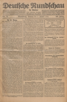 Deutsche Rundschau in Polen : früher Ostdeutsche Rundschau, Bromberger Tageblatt. Jg.49, Nr. 3 (4 Januar 1925) + dod.