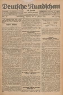 Deutsche Rundschau in Polen : früher Ostdeutsche Rundschau, Bromberger Tageblatt. Jg.49, Nr. 4 (6 Januar 1925) + dod.