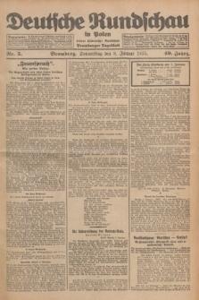 Deutsche Rundschau in Polen : früher Ostdeutsche Rundschau, Bromberger Tageblatt. Jg.49, Nr. 5 (8 Januar 1925) + dod.