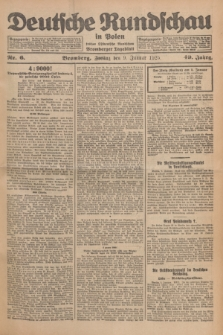 Deutsche Rundschau in Polen : früher Ostdeutsche Rundschau, Bromberger Tageblatt. Jg.49, Nr. 6 (9 Januar 1925) + dod.
