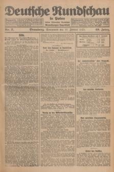 Deutsche Rundschau in Polen : früher Ostdeutsche Rundschau, Bromberger Tageblatt. Jg.49, Nr. 7 (10 Januar 1925) + dod.