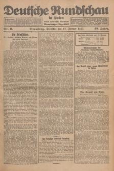 Deutsche Rundschau in Polen : früher Ostdeutsche Rundschau, Bromberger Tageblatt. Jg.49, Nr. 9 (13 Januar 1925) + dod.