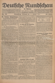 Deutsche Rundschau in Polen : früher Ostdeutsche Rundschau, Bromberger Tageblatt. Jg.49, Nr. 10 (14 Januar 1925) + dod.