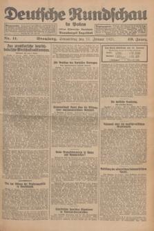 Deutsche Rundschau in Polen : früher Ostdeutsche Rundschau, Bromberger Tageblatt. Jg.49, Nr. 11 (15 Januar 1925) + dod.