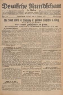 Deutsche Rundschau in Polen : früher Ostdeutsche Rundschau, Bromberger Tageblatt. Jg.49, Nr. 12 (16 Januar 1925) + dod.