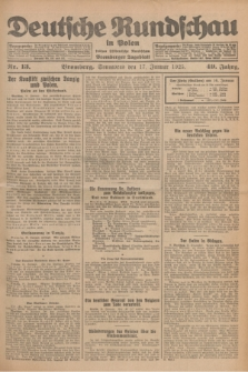 Deutsche Rundschau in Polen : früher Ostdeutsche Rundschau, Bromberger Tageblatt. Jg.49, Nr. 13 (17 Januar 1925) + dod.
