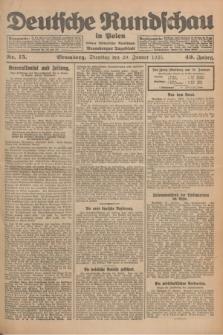 Deutsche Rundschau in Polen : früher Ostdeutsche Rundschau, Bromberger Tageblatt. Jg.49, Nr. 15 (20 Januar 1925) + dod.