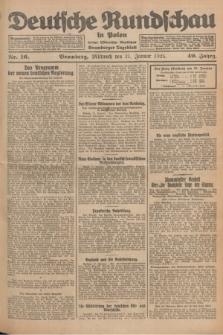 Deutsche Rundschau in Polen : früher Ostdeutsche Rundschau, Bromberger Tageblatt. Jg.49, Nr. 16 (21 Januar 1925) + dod.