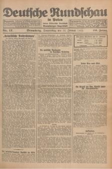 Deutsche Rundschau in Polen : früher Ostdeutsche Rundschau, Bromberger Tageblatt. Jg.49, Nr. 17 (22 Januar 1925) + dod.