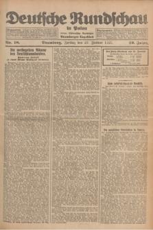 Deutsche Rundschau in Polen : früher Ostdeutsche Rundschau, Bromberger Tageblatt. Jg.49, Nr. 18 (23 Januar 1925) + dod.