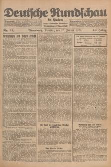 Deutsche Rundschau in Polen : früher Ostdeutsche Rundschau, Bromberger Tageblatt. Jg.49, Nr. 21 (27 Januar 1925) + dod.