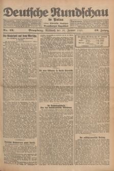 Deutsche Rundschau in Polen : früher Ostdeutsche Rundschau, Bromberger Tageblatt. Jg.49, Nr. 22 (28 Januar 1925) + dod.