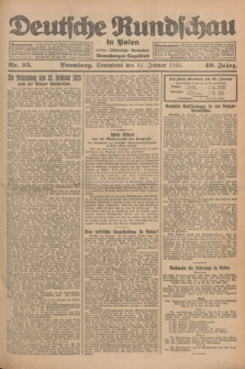 Deutsche Rundschau in Polen : früher Ostdeutsche Rundschau, Bromberger Tageblatt. Jg.49, Nr. 25 (31 Januar 1925) + dod.