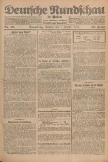 Deutsche Rundschau in Polen : früher Ostdeutsche Rundschau, Bromberger Tageblatt. Jg.49, Nr. 26 (1 Februar 1925) + dod.