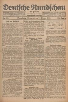 Deutsche Rundschau in Polen : früher Ostdeutsche Rundschau, Bromberger Tageblatt. Jg.49, Nr. 31 (7 Februar 1925) + dod.