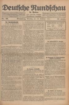 Deutsche Rundschau in Polen : früher Ostdeutsche Rundschau, Bromberger Tageblatt. Jg.49, Nr. 33 (10 Februar 1925) + dod.