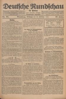 Deutsche Rundschau in Polen : früher Ostdeutsche Rundschau, Bromberger Tageblatt. Jg.49, Nr. 34 (11 Februar 1925) + dod.