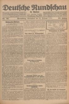 Deutsche Rundschau in Polen : früher Ostdeutsche Rundschau, Bromberger Tageblatt. Jg.49, Nr. 37 (14 Februar 1925) + dod.