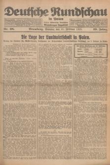 Deutsche Rundschau in Polen : früher Ostdeutsche Rundschau, Bromberger Tageblatt. Jg.49, Nr. 38 (15 Februar 1925) + dod.