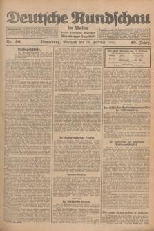 Deutsche Rundschau in Polen : früher Ostdeutsche Rundschau, Bromberger Tageblatt. Jg.49, Nr. 40 (18 Februar 1925) + dod.