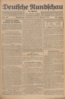 Deutsche Rundschau in Polen : früher Ostdeutsche Rundschau, Bromberger Tageblatt. Jg.49, Nr. 41 (19 Februar 1925) + dod.
