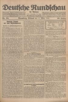Deutsche Rundschau in Polen : früher Ostdeutsche Rundschau, Bromberger Tageblatt. Jg.49, Nr. 58 (11 März 1925) + dod.