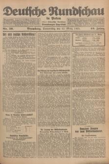Deutsche Rundschau in Polen : früher Ostdeutsche Rundschau, Bromberger Tageblatt. Jg.49, Nr. 59 (12 März 1925) + dod.